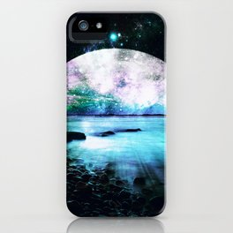Mystic Lake Turquoise Violet iPhone Case
