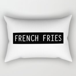 French Fries Old Typewriter Letters Rectangular Pillow