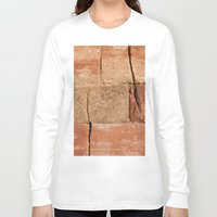 geology Long Sleeve T-shirts featuring Ancient Sandstone Wall by Phil Smyth