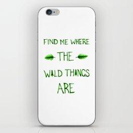Wild Things iPhone Skin