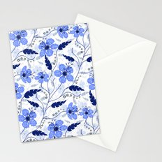 Floral pattern on a white background Stationery Cards