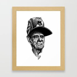 elder man head Framed Art Print