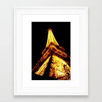 eiffel tower Framed Art Prints featuring Eiffel Tower by Fimbis