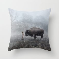 MeeTe Buffao Throw Pillow