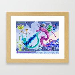 Princess Planet Boss Battle 6 - Hot Licks Framed Art Print