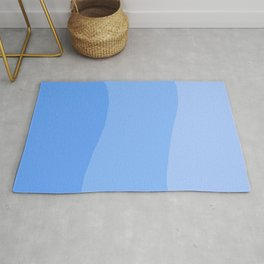 A Powder Blue S Curve for You Rug