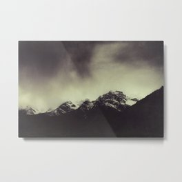 Shadow Mountain - Italian Alps Metal Print