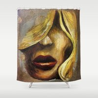 ruby Shower Curtains featuring Ruby by winterkl