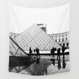 Rainy Day at The Louvre Wall Tapestry
