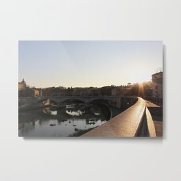 Parco Adriano & The Tiber Metal Print