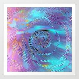 Blue movement S24 Art Print