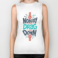 risa rodil Biker Tanks featuring Nobody can drag me down by Risa Rodil
