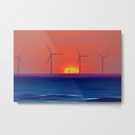 Windmills to the Sun Metal Print