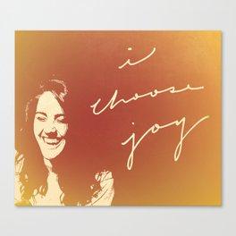 I Choose Joy #3 Canvas Print