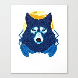 I Am Not A Survivor I Am A Warrior Fierce Wolf Canvas Print