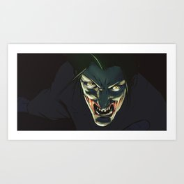Smilling into the Darkness Art Print