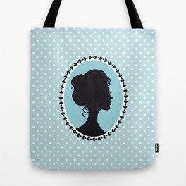 Blue cameo Tote Bag
