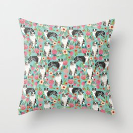Australian Shepherd owners dog breed cute herding dogs aussie dogs animal pet portrait dog art Throw Pillow