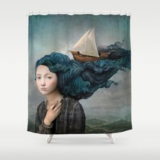 Message from the Sea Shower Curtain