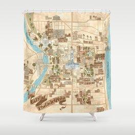 The City of Philadelphia Shower Curtain
