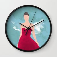fairy tale Wall Clocks featuring Fairy Tale by 83 Oranges™