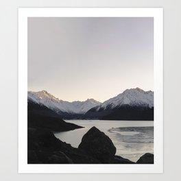Mountain Series - Tasman Glacier Art Print