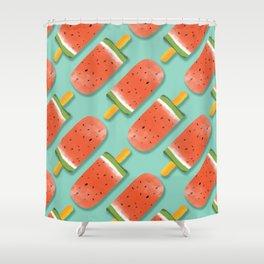 Watermelon Popsicles Pattern #society6 #decor #buyart Shower Curtain