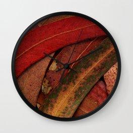 Eucalyptus Tree Leaves Wall Clock