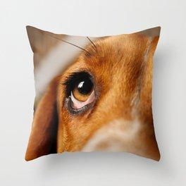 Basset Hound. Throw Pillow