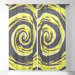 Hypnotic Yellows Sheer Curtain