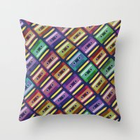 90s Throw Pillows featuring 90s pattern by Gabor Nemethi