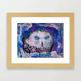 Ole Blue Eyes Framed Art Print