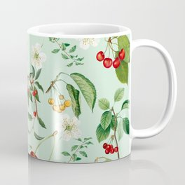 Cherries On Blue Background Coffee Mug