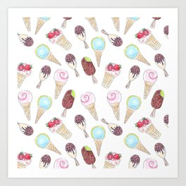 Like ice cream 1. Art Print