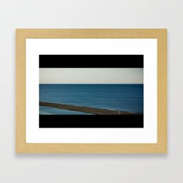 Wide Ocean Beach (Landscape) Framed Art Print