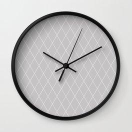 Minimal Light Gray Wire Abstract Wall Clock