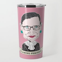 Ruth Bader Ginsburg The Notorious RBG Flaming Feminist Travel Mug