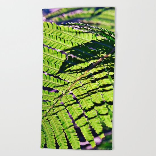 Summer Fern in Sunny Dreams Beach Towel