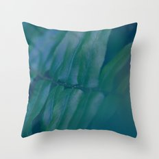Midnight Green Throw Pillow