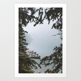Between Two Firs Art Print
