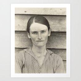 Allie Mae Burroughs by Walker Evans Art Print