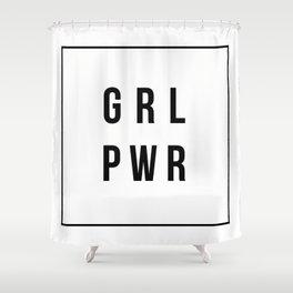 GRLPWR Girl Power Shower Curtain