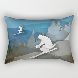 The Skiers Rectangular Pillow