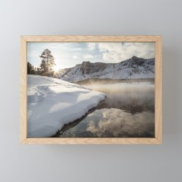 Yellowstone National Park - Bison tracks along the Madison River Framed Mini Art Print