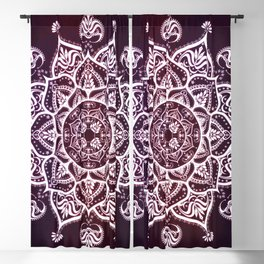 Mandala Purple Spiritual Zen Bohemian Hippie Yoga Mantra Meditation Blackout Curtain