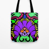 damask Tote Bags featuring Damask by Urlaub Photography