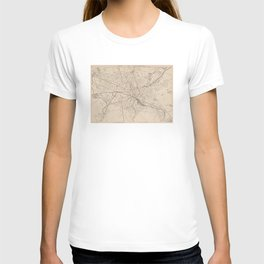 Vintage Map of Worcester MA (1891) T-shirt