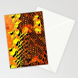 Nightmares:  City Asleep in the Raging Inferno Stationery Cards