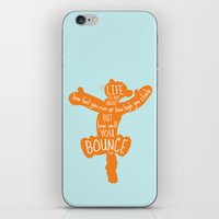tigger iPhone & iPod Skins featuring Life is about ... How Well You Bounce - Winnie the Pooh / Tigger inspired Print by Kitchen Bath Prints