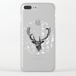 """Nice Shooting Tee For Hunters Saying """"Deer With American Flag"""" T-shirt Design Hunting Rifle Gun Clear iPhone Case"""